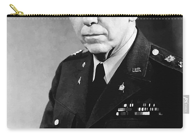 George Marshall Carry-all Pouch featuring the painting George Marshall by War Is Hell Store