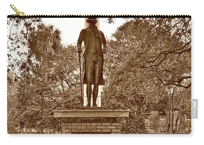 Culture Carry-all Pouch featuring the photograph George Washington, Charleston,sc by Skip Willits