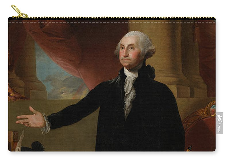 George Washington Carry-all Pouch featuring the painting George Washington Lansdowne Portrait by War Is Hell Store