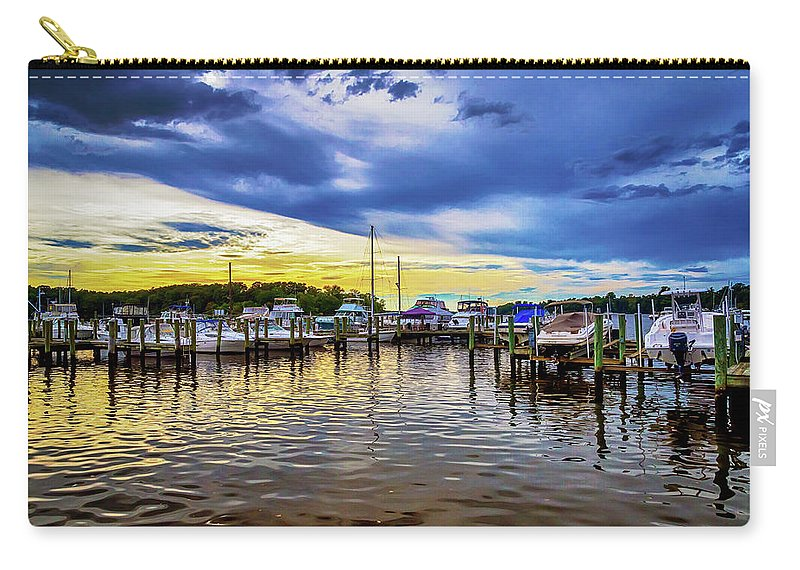 2d Carry-all Pouch featuring the photograph Georgetown Yacht Basin by Brian Wallace