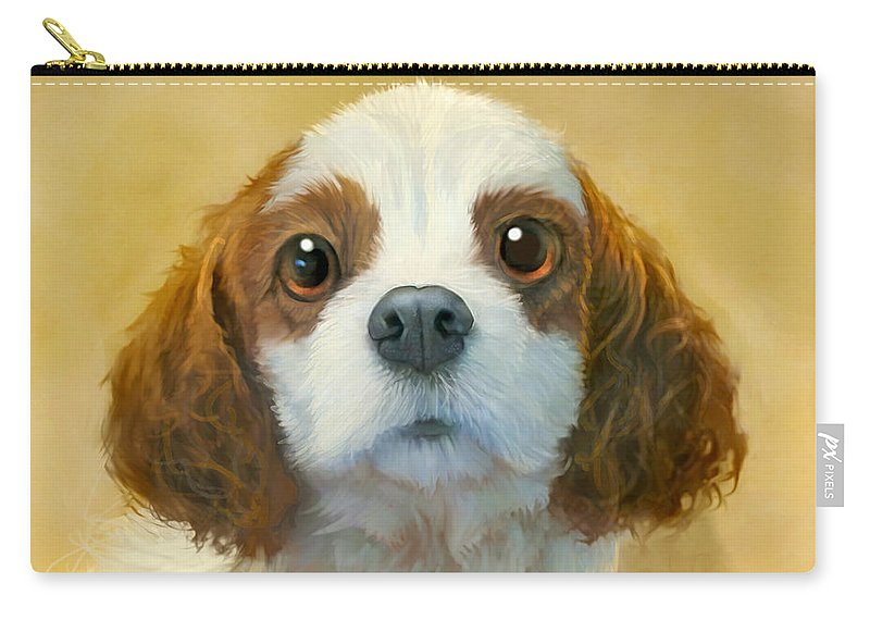 Dog Carry-all Pouch featuring the painting More than Words by Sean ODaniels