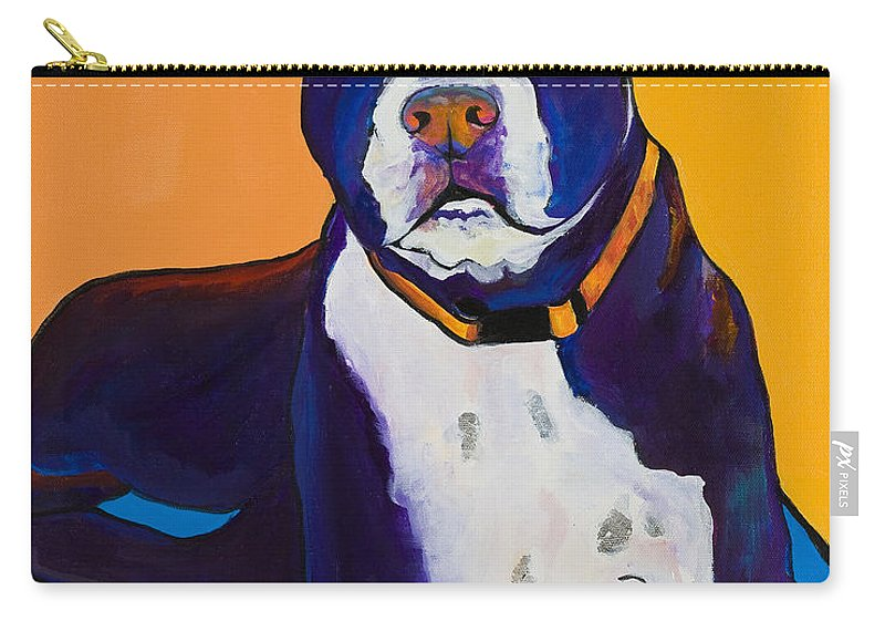 Boston Terrier Carry-all Pouch featuring the painting Georgie by Pat Saunders-White