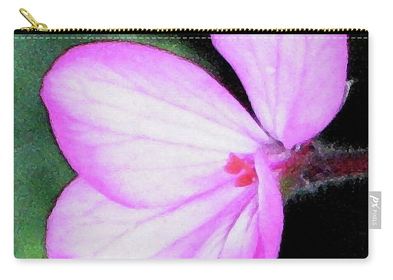 Flower Carry-all Pouch featuring the painting Geranium Blossom by Hazel Holland