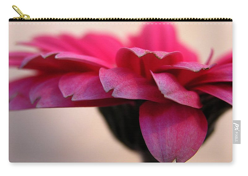 Pink Flower Carry-all Pouch featuring the photograph Gerbera Daisy by Carol Milisen