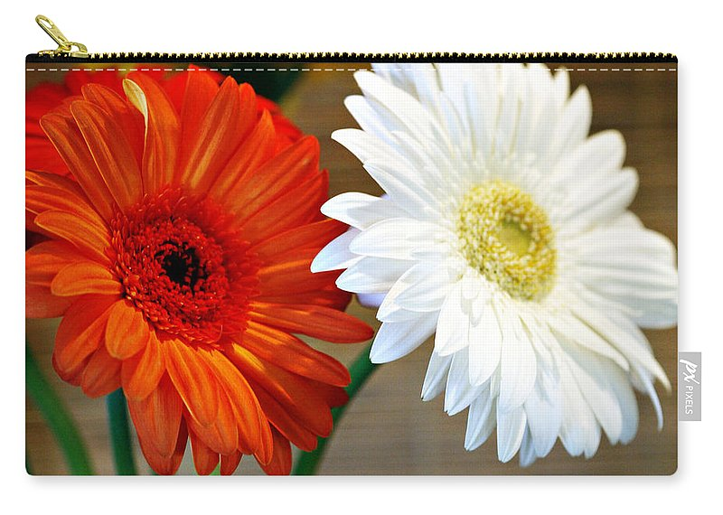 Flower Carry-all Pouch featuring the photograph Gerbers by Marilyn Hunt