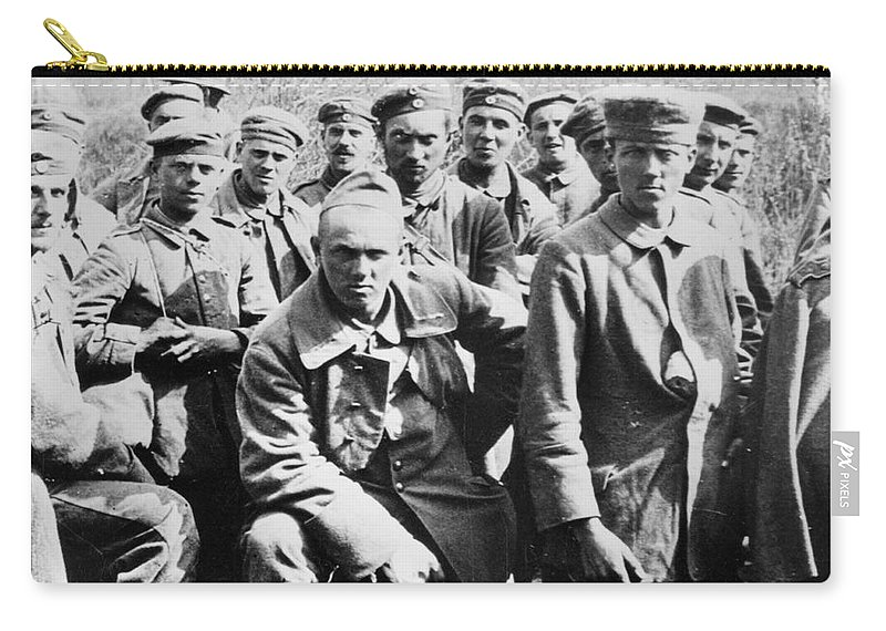 1918 Carry-all Pouch featuring the photograph German Prisoners Of War by Granger