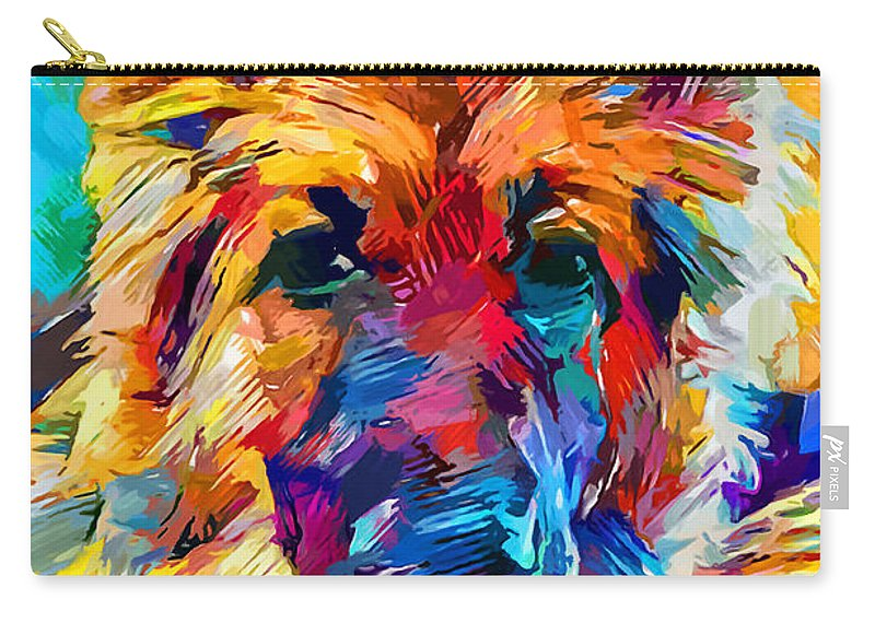 Dog Carry-all Pouch featuring the painting German Shepherd 6 by Chris Butler
