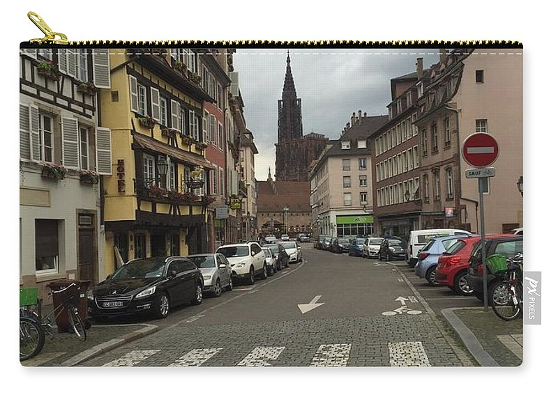 Germany Carry-all Pouch featuring the photograph German Street by Lauren Strader