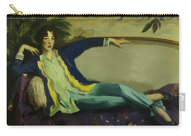 Gertrude Carry-all Pouch featuring the painting Gertrude Vanderbilt Whitney 1916 by Henri Robert