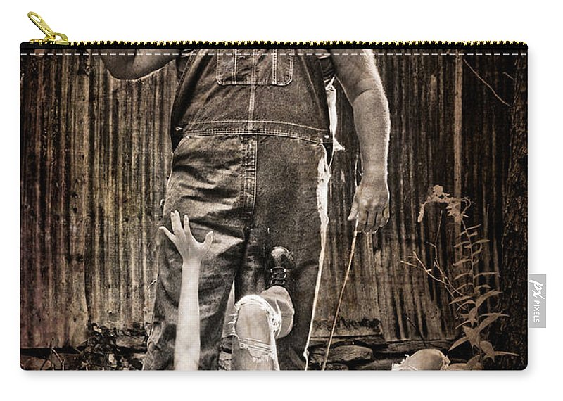 Horror Carry-all Pouch featuring the photograph Get Away by Jt PhotoDesign