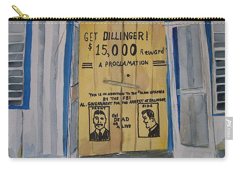 Building Carry-all Pouch featuring the painting Get Dillinger by Patricia Caldwell