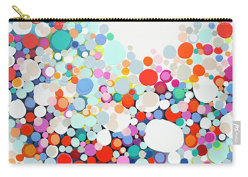 Abstract Carry-all Pouch featuring the painting Get Home Late by Claire Desjardins