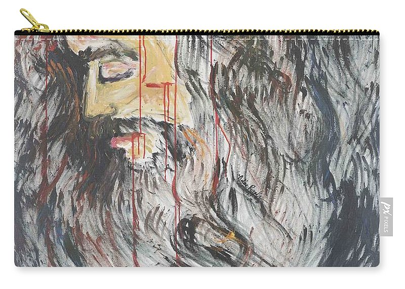 Jesus Carry-all Pouch featuring the painting Gethsemane To Golgotha IIi by Nadine Rippelmeyer