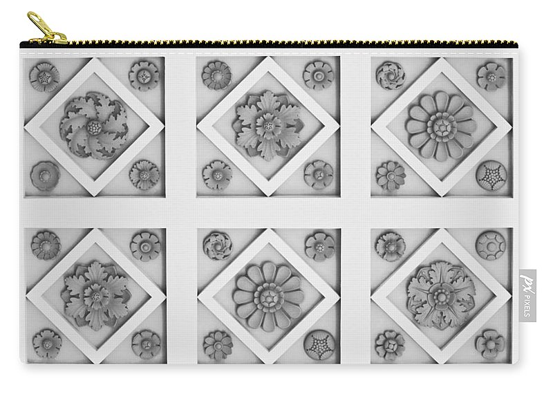Getty Carry-all Pouch featuring the photograph Getty Villa Coffered Peristyle Ceiling by Teresa Mucha