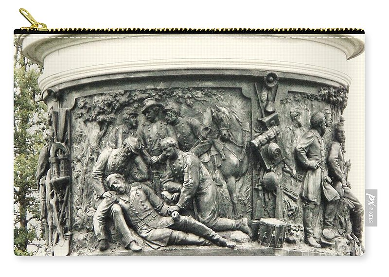 Gettysburg Carry-all Pouch featuring the photograph Gettysburg Monument by Eric Schiabor