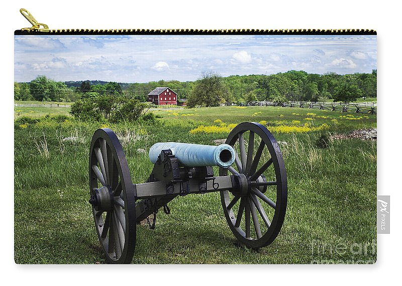 Adams County Carry-all Pouch featuring the photograph Gettysburg National Military Park by John Greim