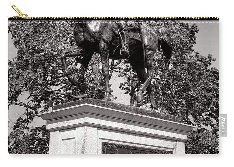 Gettysburg Carry-all Pouch featuring the photograph Gettysburg National Park John Fulton Reynolds Monument by Olivier Le Queinec