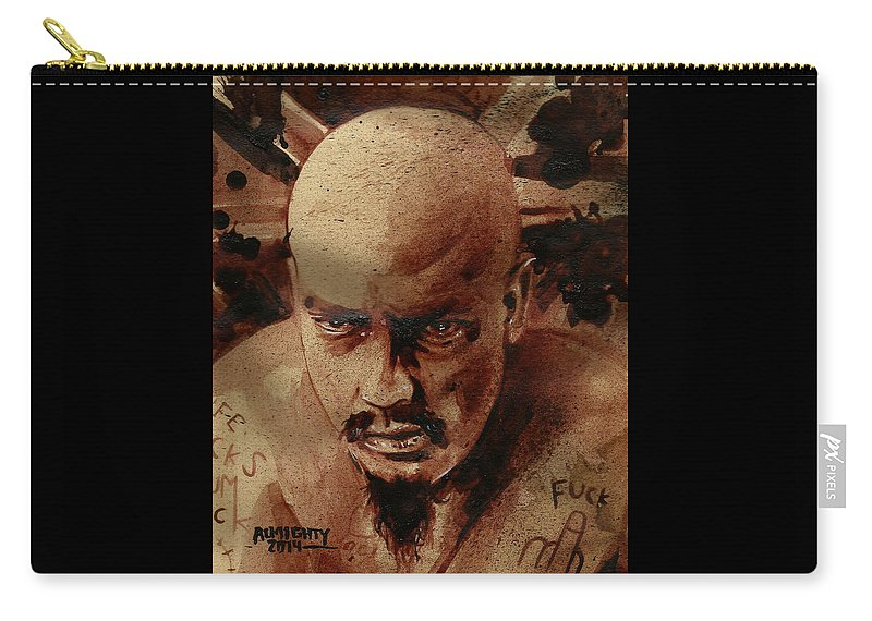 Gg Allin Carry-all Pouch featuring the painting Gg Allin by Ryan Almighty