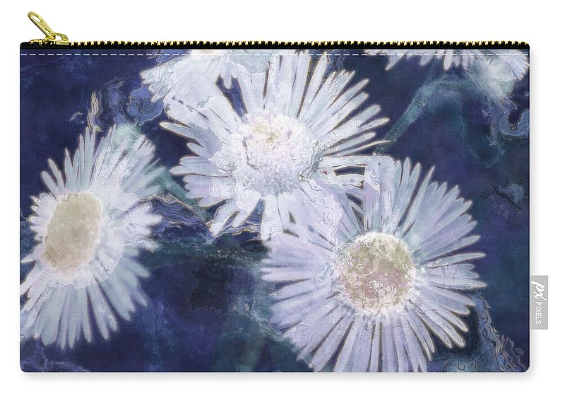 Asters Carry-all Pouch featuring the painting Ghost Flowers by RC deWinter