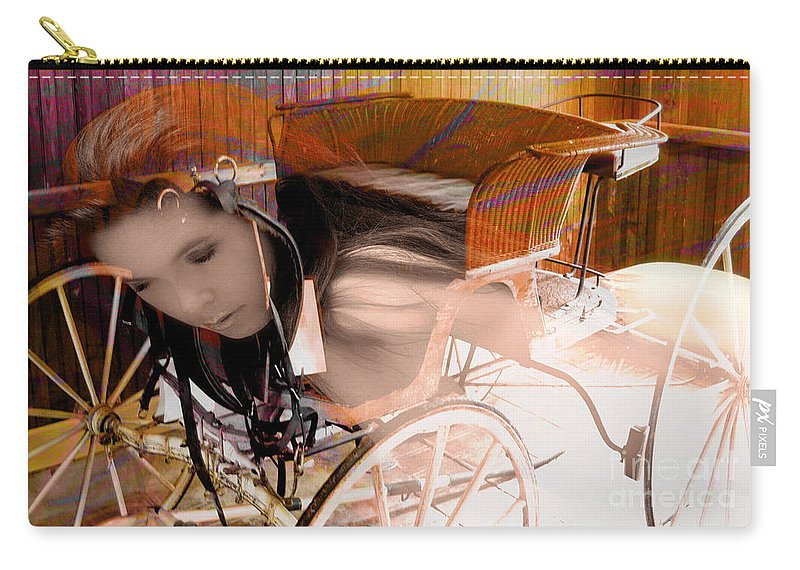 Clay Carry-all Pouch featuring the photograph Ghost In The Carriage House by Clayton Bruster