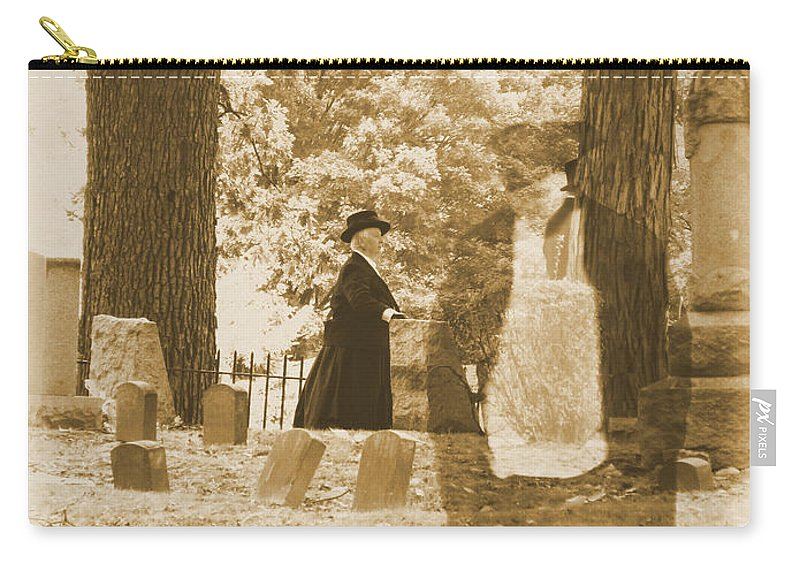 Art Carry-all Pouch featuring the photograph Ghost In The Graveyard by September Stone