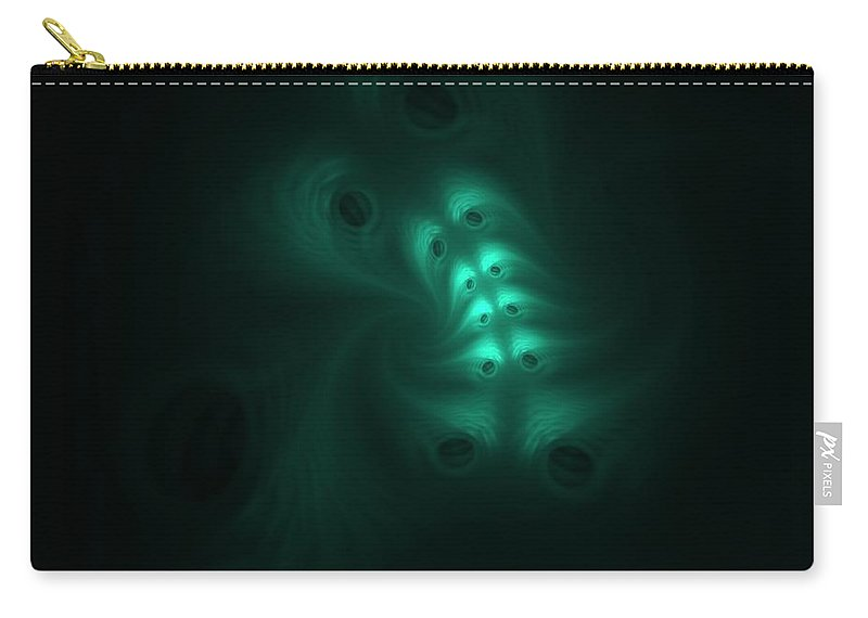 Digital Painting Carry-all Pouch featuring the digital art Ghost In The Machine by David Lane