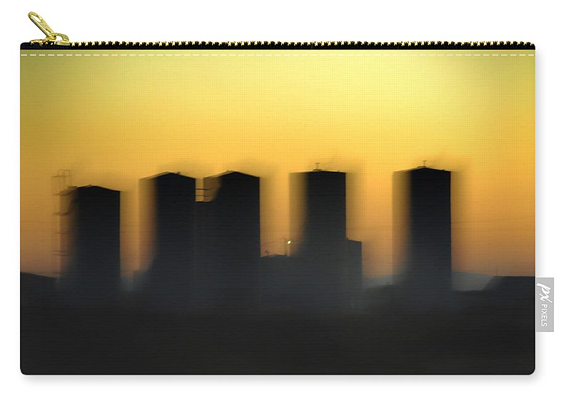 Industrial Carry-all Pouch featuring the photograph Ghost Industry by Donna Blackhall