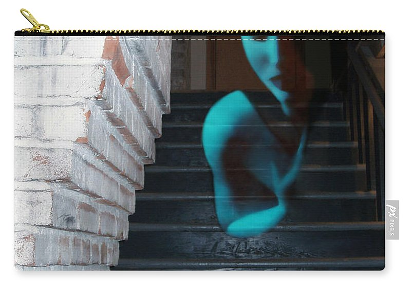 Angst Carry-all Pouch featuring the photograph Ghost Of Pain - Self Portrait by Jaeda DeWalt