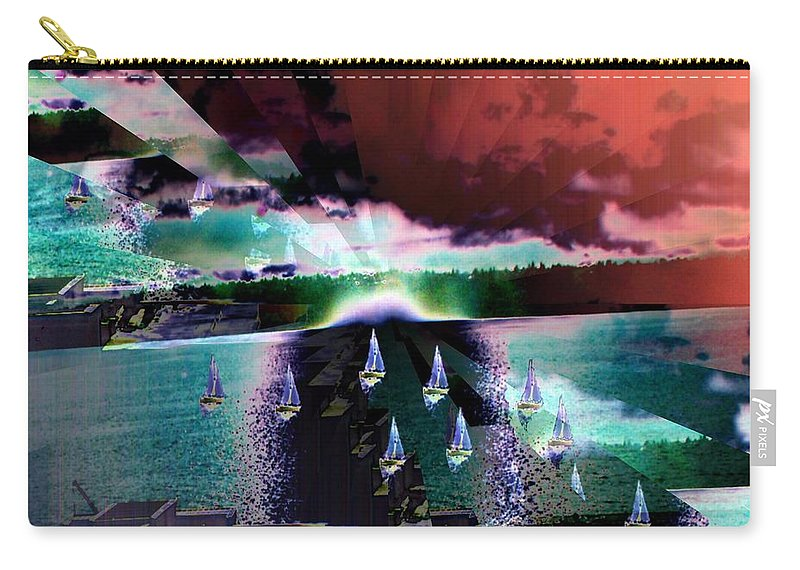 Seattle Carry-all Pouch featuring the digital art Ghost Regatta by Tim Allen