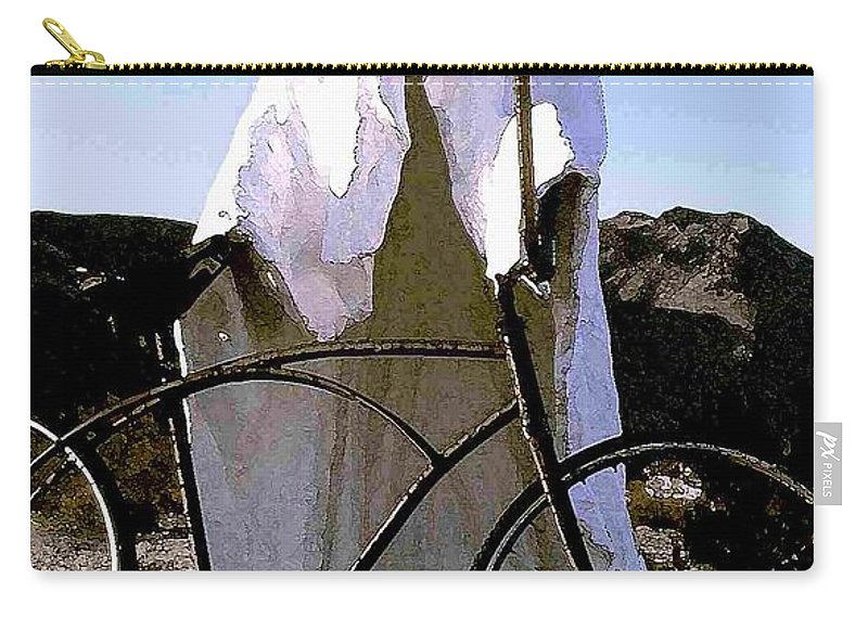Ghost Carry-all Pouch featuring the photograph Ghost Rider by Nelson Strong