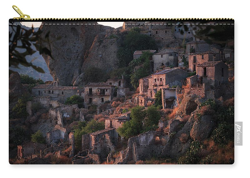 Abandoned Carry-all Pouch featuring the photograph Ghost Town by Antonio Violi