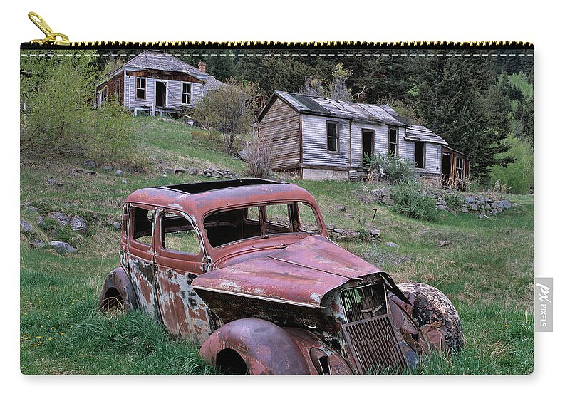 Montana Carry-all Pouch featuring the photograph Ghost Town by Leland D Howard