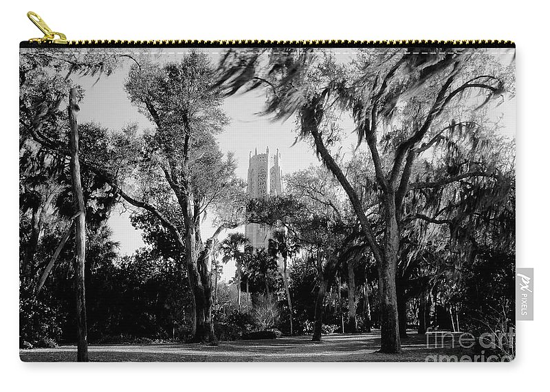 Bok Tower Carry-all Pouch featuring the photograph Ghostly Bok Tower by David Lee Thompson