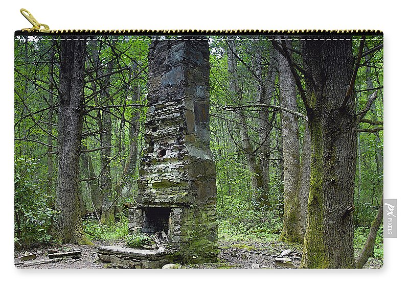 Chimney Carry-all Pouch featuring the painting Ghostly Reminder by David Lee Thompson