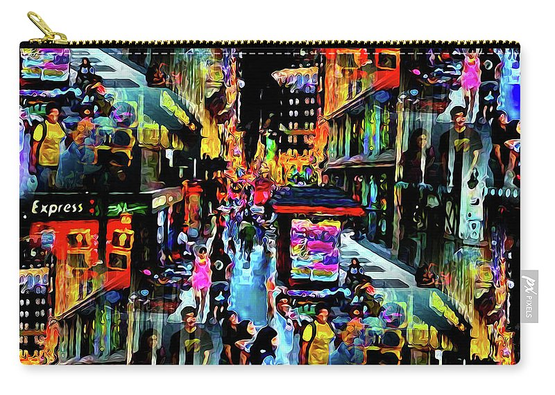 World's Carry-all Pouch featuring the digital art Ghostly Shopping Center by Ron Fleishman