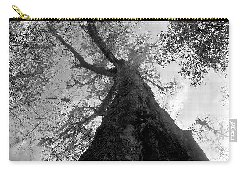 Ghostly Carry-all Pouch featuring the photograph Ghostly Tree by David Lee Thompson