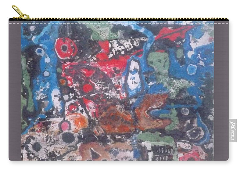 Abstract Carry-all Pouch featuring the painting Ghoul Pool by Denise Morgan
