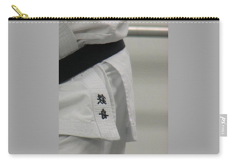 Karate Carry-all Pouch featuring the photograph Gi by Kelly Mezzapelle