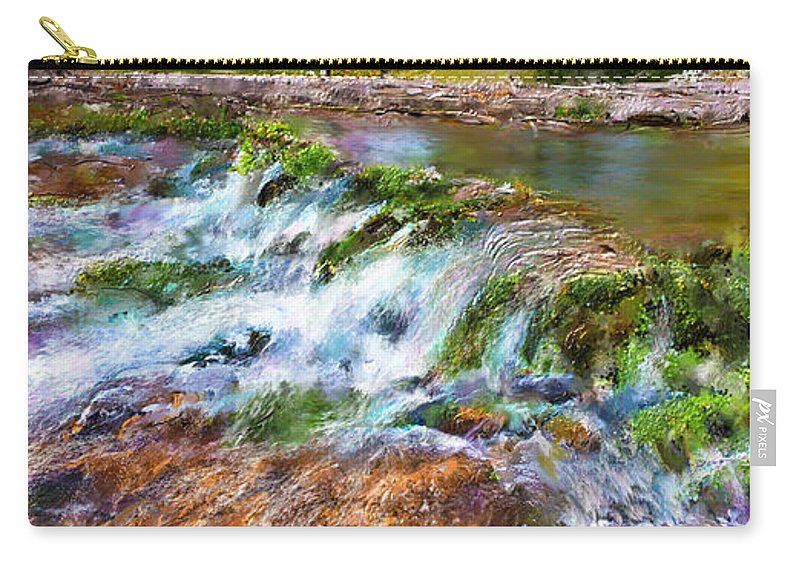 Giant Springs Carry-all Pouch featuring the digital art Giant Springs 2 by Susan Kinney
