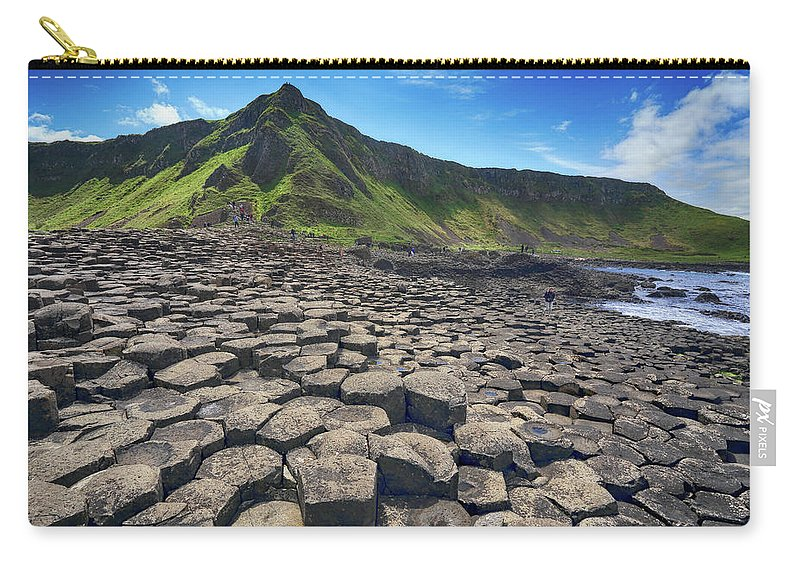 Giants Carry-all Pouch featuring the photograph Giants Causeway by Ceri Jones