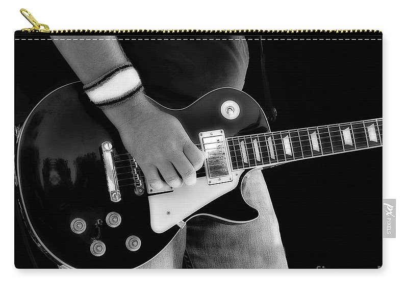 Gibson Carry-all Pouch featuring the photograph Gibson Les Paul Guitar by Randy Steele