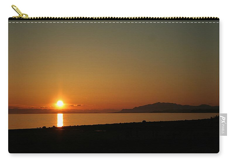 Sunset Carry-all Pouch featuring the photograph Gibsons Sunset by Angela Hansen