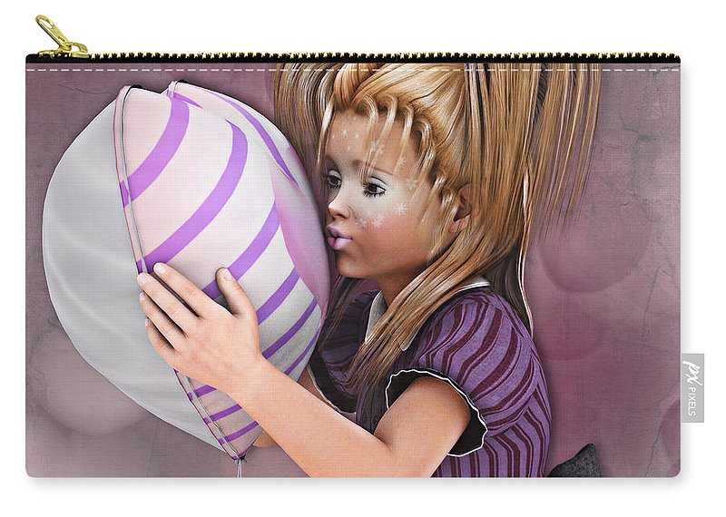 3d Carry-all Pouch featuring the digital art Gift From Daddy by Jutta Maria Pusl