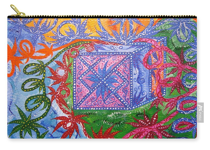 Symbol Carry-all Pouch featuring the painting Gift by Joanna Pilatowicz