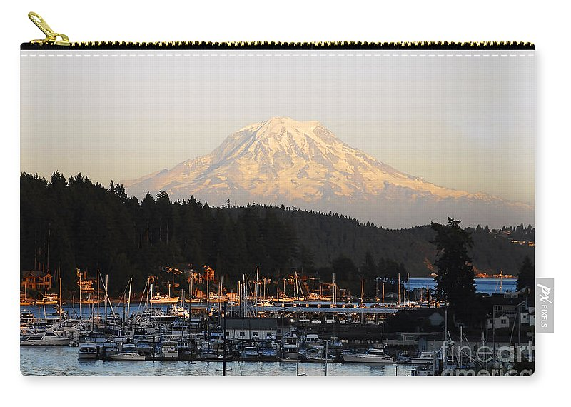 Gig Harbor Washington Carry-all Pouch featuring the photograph Gig Harbor by David Lee Thompson