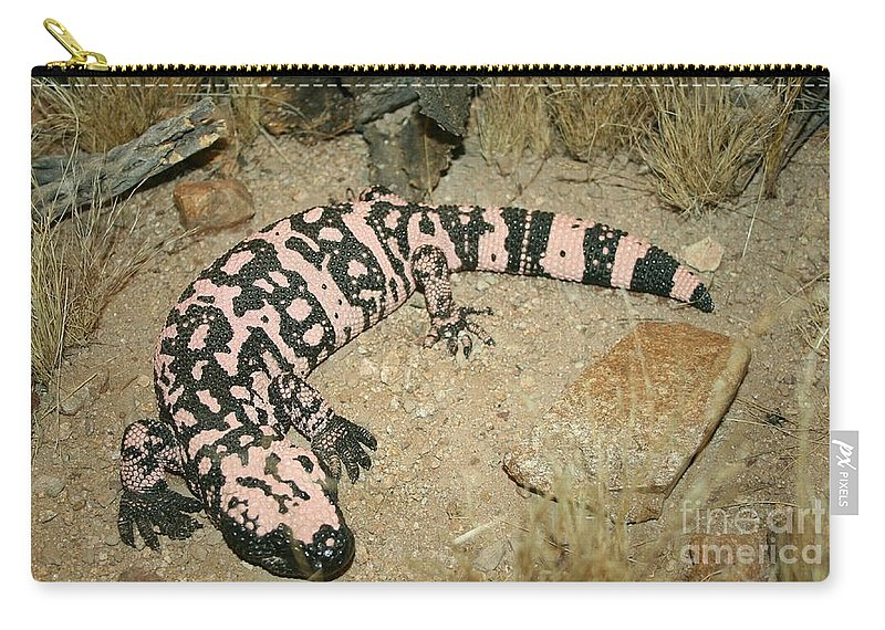 Gila Monster Carry-all Pouch featuring the photograph Gila Monster by Christiane Schulze Art And Photography