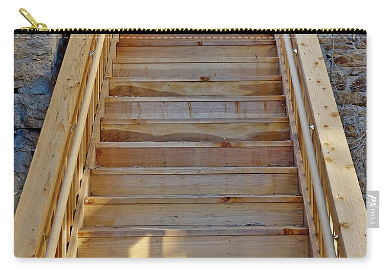 Gilpin County Carry-all Pouch featuring the photograph Gilpin County Museum Stairs by Robert Meyers-Lussier