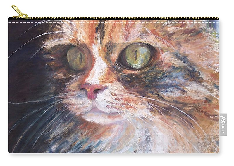 Original Pastel Carry-all Pouch featuring the pastel Ginger - Ly by Alicia Drakiotes