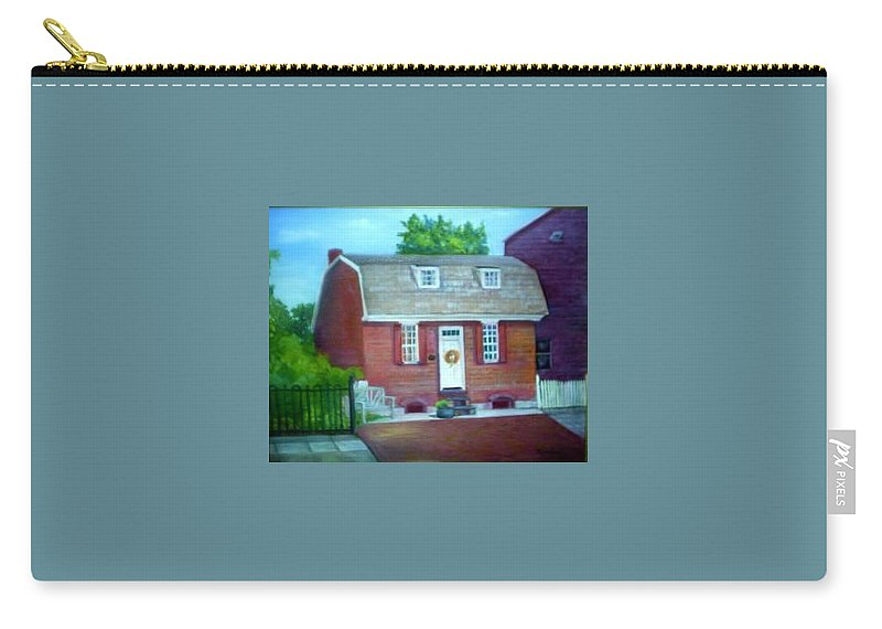 Revell House Carry-all Pouch featuring the painting Gingerbread House by Sheila Mashaw