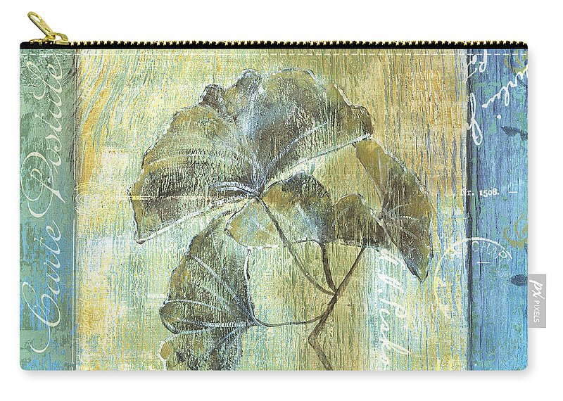 Ginkgo Carry-all Pouch featuring the painting Ginkgo Spa 1 by Debbie DeWitt
